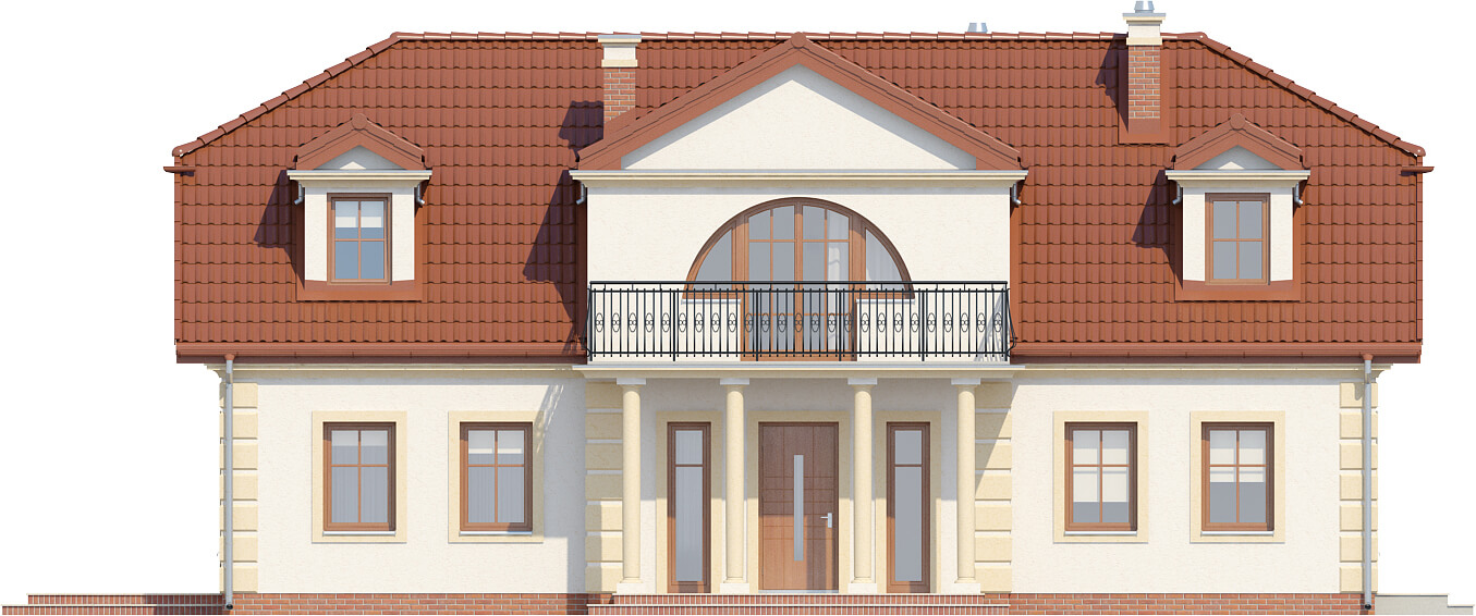 Projekt domu L-6414 - elewacja
