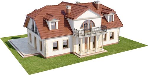 Projekt domu L-6414 - model