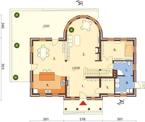 Projekt domu L-6414 - rzut