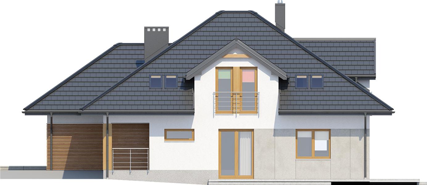 Projekt domu L-6418 - elewacja