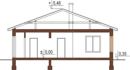Projekt domu DM-5519 - przekrój