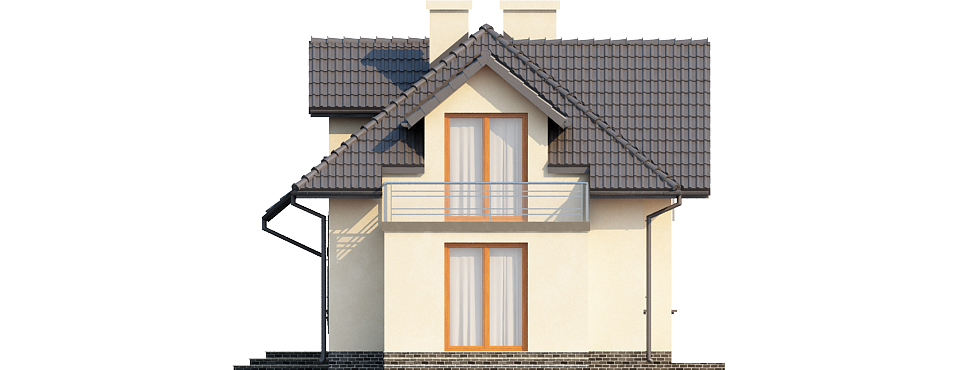Projekt domu DM-6390 - elewacja
