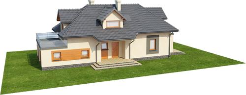 Projekt domu DM-6390 - model