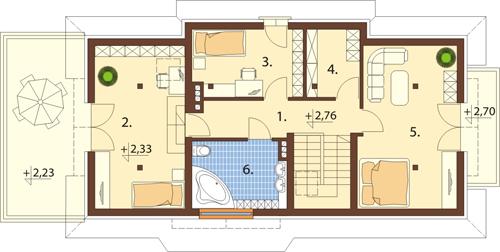 Projekt domu DM-6390 - rzut