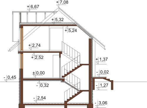 Projekt domu DM-6390 - przekrój