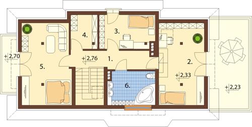 Projekt domu L-6390 - rzut