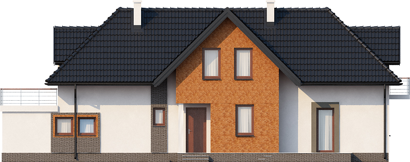 Projekt domu DM-6408 - elewacja