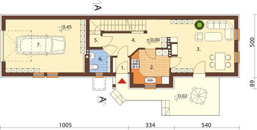 Projekt domu DM-6408 - rzut