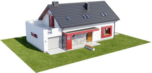 Projekt domu DM-6419 - model