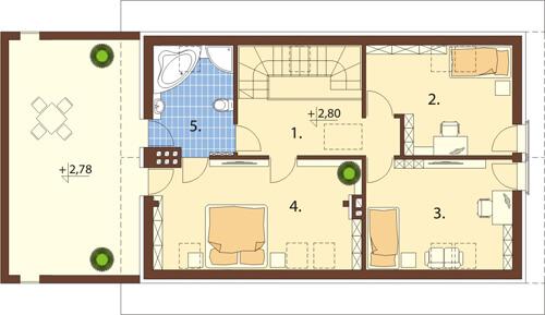 Projekt domu DM-6419 - rzut