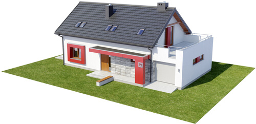 Projekt domu L-6419 - model