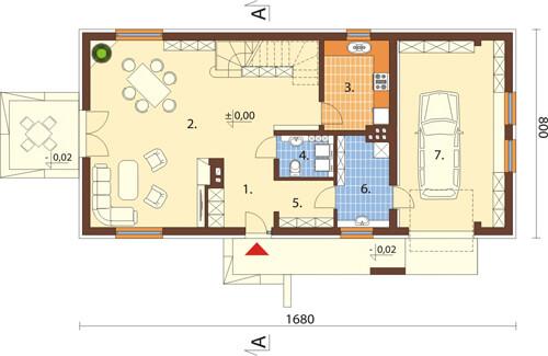 Projekt domu L-6419 - rzut