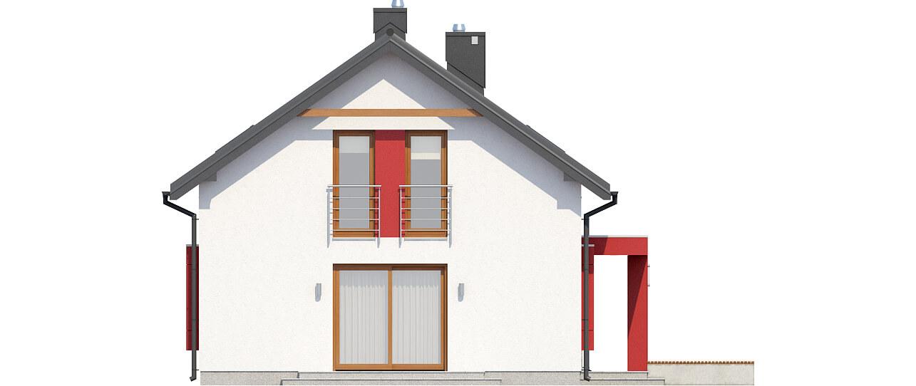 Projekt domu L-6419 - elewacja