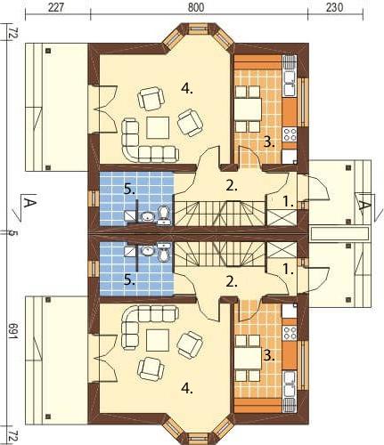 Projekt domu DM-6095 - rzut