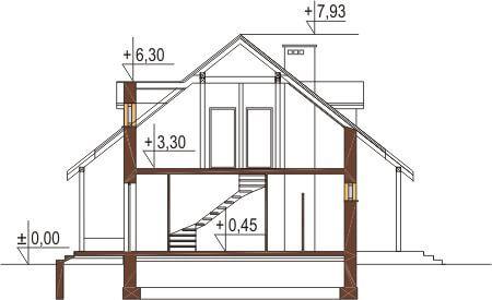 Projekt domu DM-6095 - przekrój