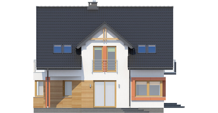 Projekt domu DM-6420 - elewacja