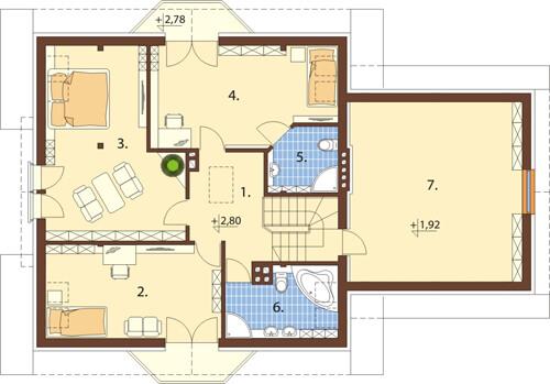 Projekt domu DM-6420 - rzut