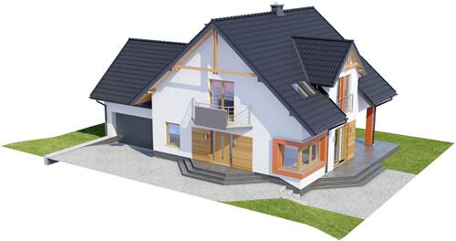Projekt domu L-6420 - model