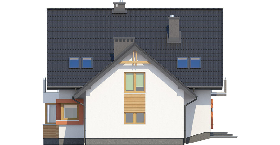 Projekt domu L-6420 - elewacja