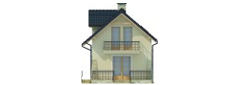 Projekt domu DM-6450 - elewacja