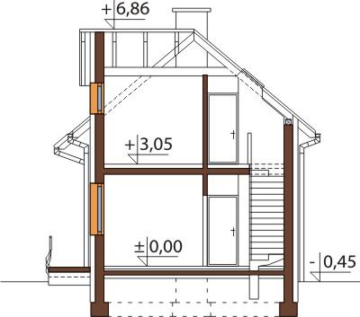 Projekt domu DM-6450 - przekrój
