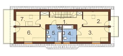 Projekt domu DM-6450 - rzut