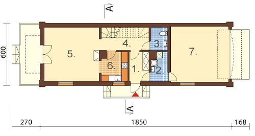 Projekt domu L-6450 - rzut
