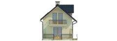 Projekt domu L-6450 - elewacja