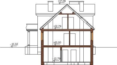 Projekt domu DM-6290 B - przekrój