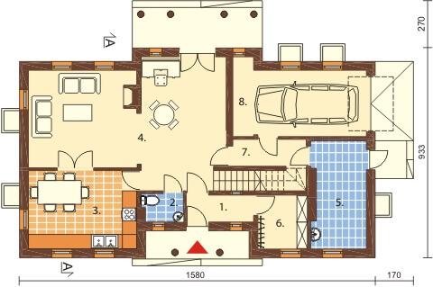 Projekt domu DM-6290 B - rzut