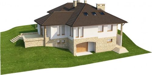 Projekt domu DM-6158 B - model