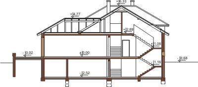 Projekt domu DM-6158 B - przekrój