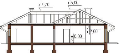 Projekt domu DM-6097 - przekrój