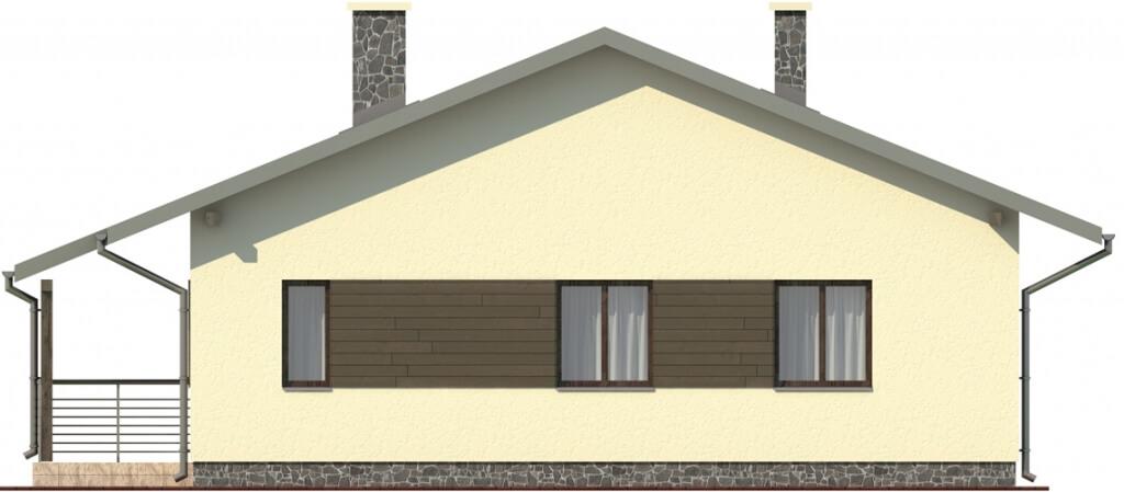 Projekt domu DM-6101 - elewacja