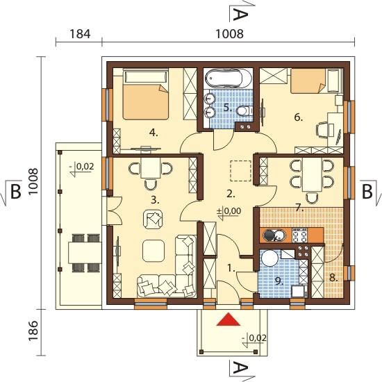 Projekt domu DM-6101 - rzut