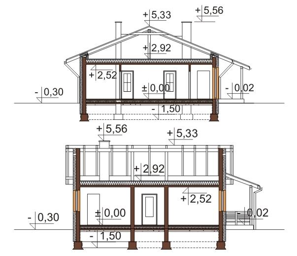 Projekt domu DM-6101 - przekrój