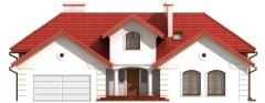 Projekt domu DM-6192 B - elewacja