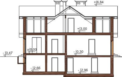 Projekt domu DM-6192 B - przekrój