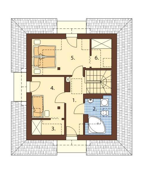 Projekt domu DM-6410 - rzut