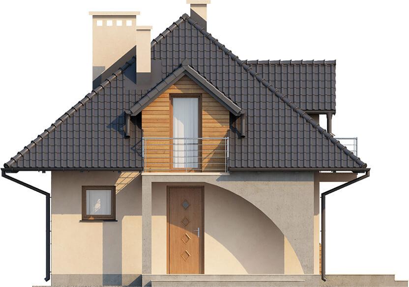 Projekt domu L-6410 - elewacja