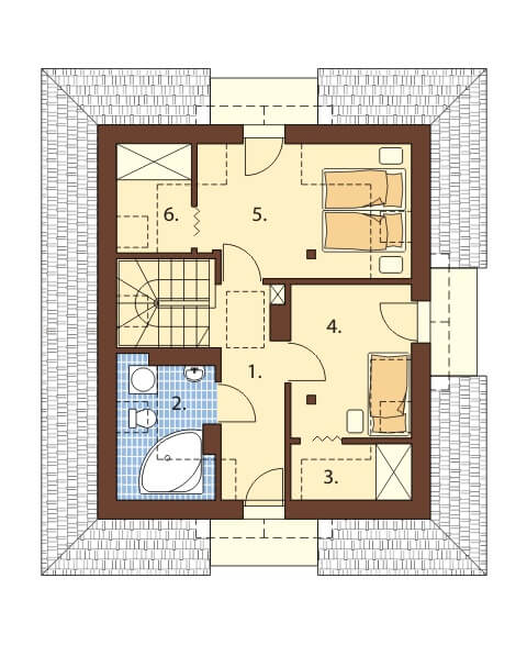 Projekt domu L-6410 - rzut