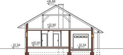 Projekt domu DM-6459 - przekrój