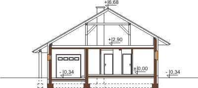 Projekt domu L-6459 - przekrój
