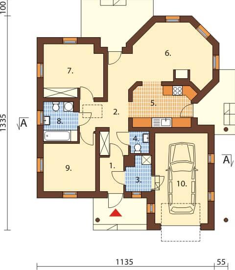 Projekt domu L-6459 - rzut