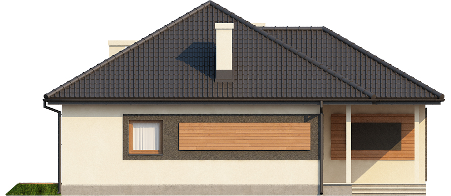 Projekt domu DM-6447 - elewacja