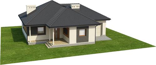 Projekt domu DM-6447 - model