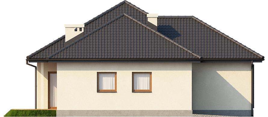 Projekt domu L-6447 - elewacja