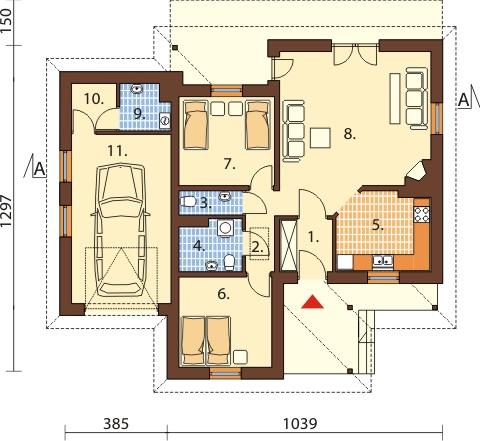 Projekt domu L-6447 - rzut