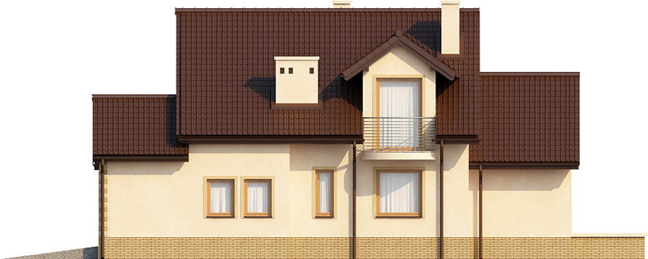Projekt domu DM-6435 - elewacja