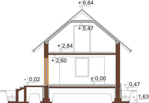 Projekt domu DM-6424 - przekrój
